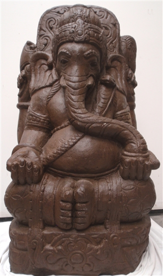 Carved Stone Statue : Ft large hand carved stone ganesha garden statue remover