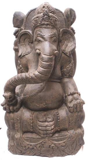 Sold 3ft Hand Carved Stone Ganesh Ganesha Zen Garden Statue Asian Outdoor Decor