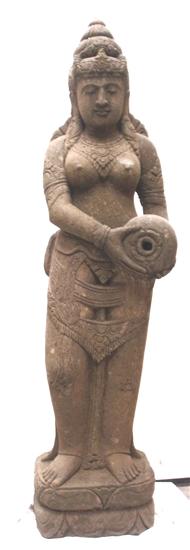 Carved Stone Statue : Ft tall carved stone dewi tara statue zen garden water